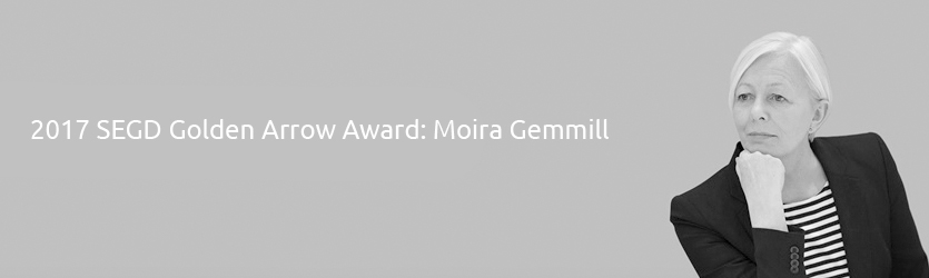 2017 SEGD Golden Arrow Award Moira Gemmill the V&A Museum London